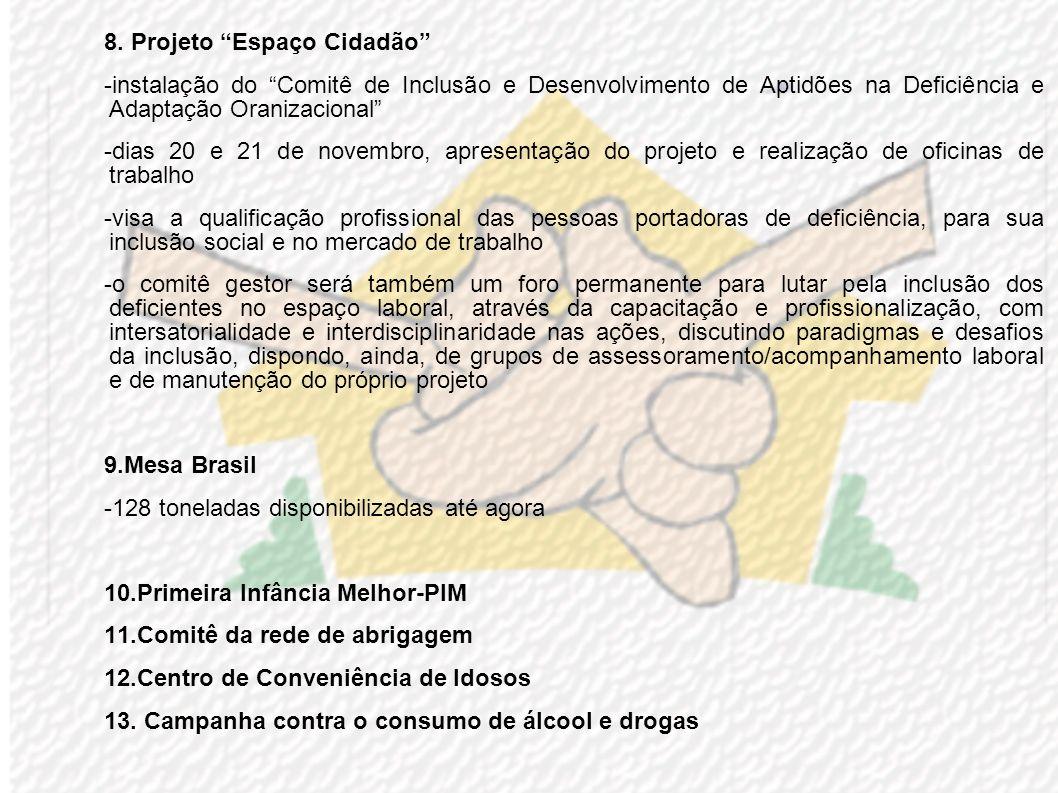 8. Projeto Espaço Cidadão