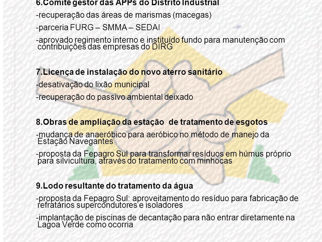 6.Comitê gestor das APPs do Distrito Industrial
