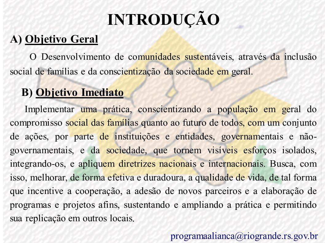 INTRODUÇÃO A) Objetivo Geral.
