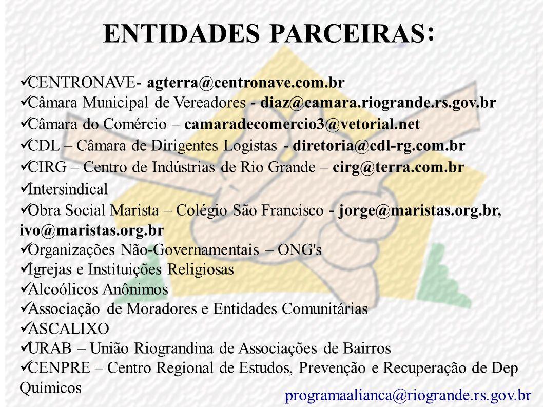 ENTIDADES PARCEIRAS: CENTRONAVE- agterra@centronave.com.br