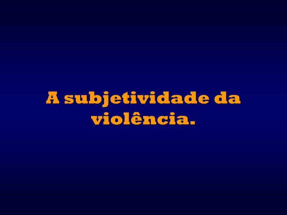 A subjetividade da violência.