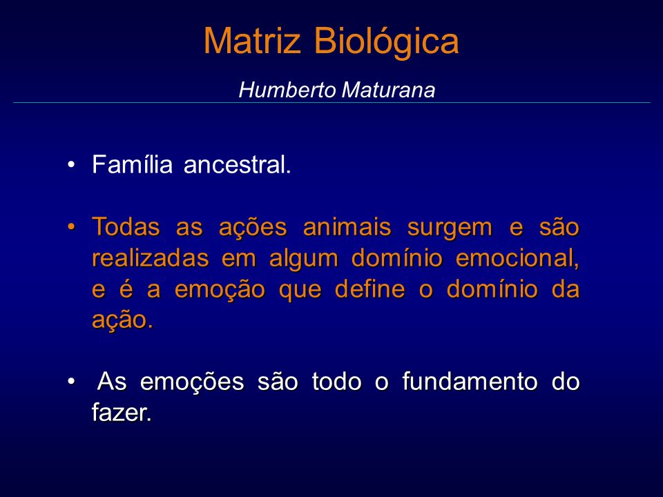Matriz Biológica Humberto Maturana