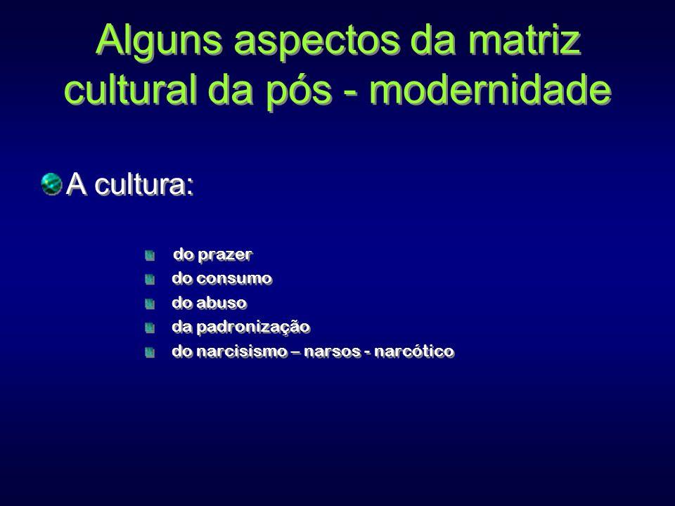Alguns aspectos da matriz cultural da pós - modernidade