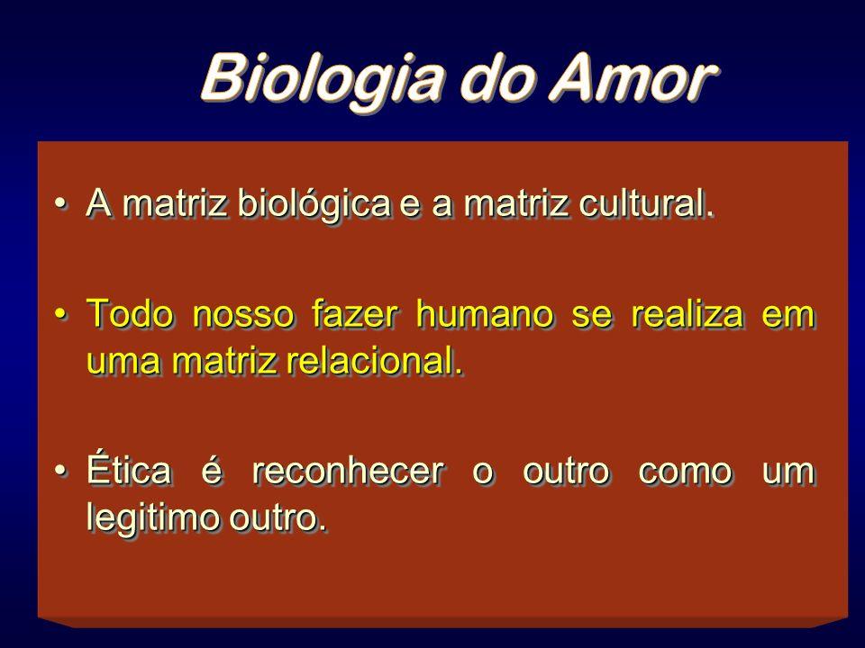 Biologia do Amor A matriz biológica e a matriz cultural.
