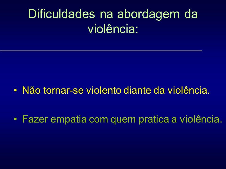 Dificuldades na abordagem da violência: