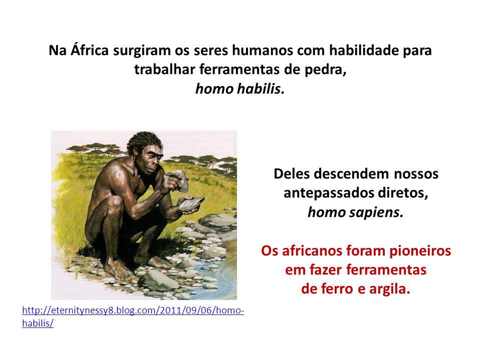 Deles descendem nossos antepassados diretos, homo sapiens.
