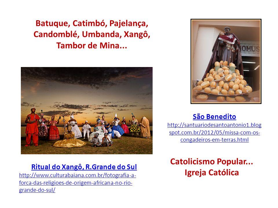 Catolicismo Popular... Igreja Católica