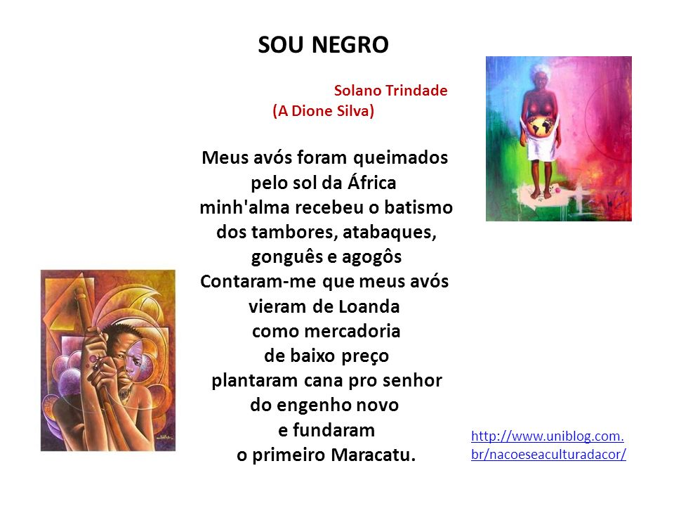 SOU NEGRO Solano Trindade. (A Dione Silva)