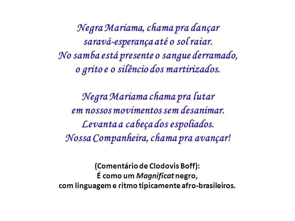 Negra Mariama, chama pra dançar saravá-esperança até o sol raiar