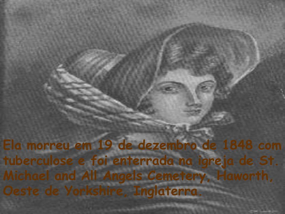 Ela morreu em 19 de dezembro de 1848 com tuberculose e foi enterrada na igreja de St.