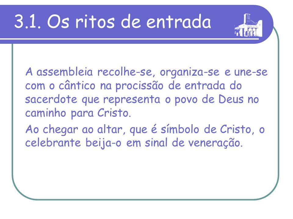 3.1. Os ritos de entrada