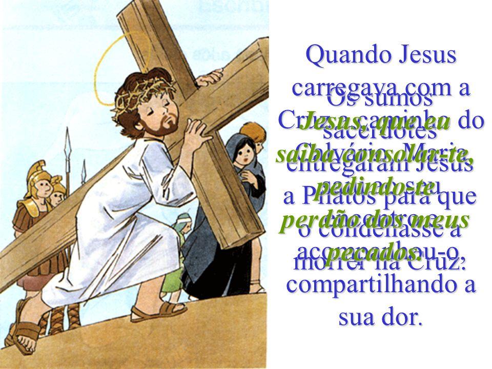 Jesus, que eu saiba consolar-te, pedindo-te perdão dos meus pecados.