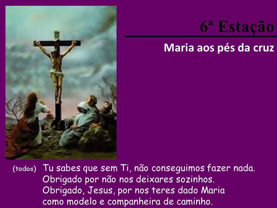 6ª Estação Maria aos pés da cruz