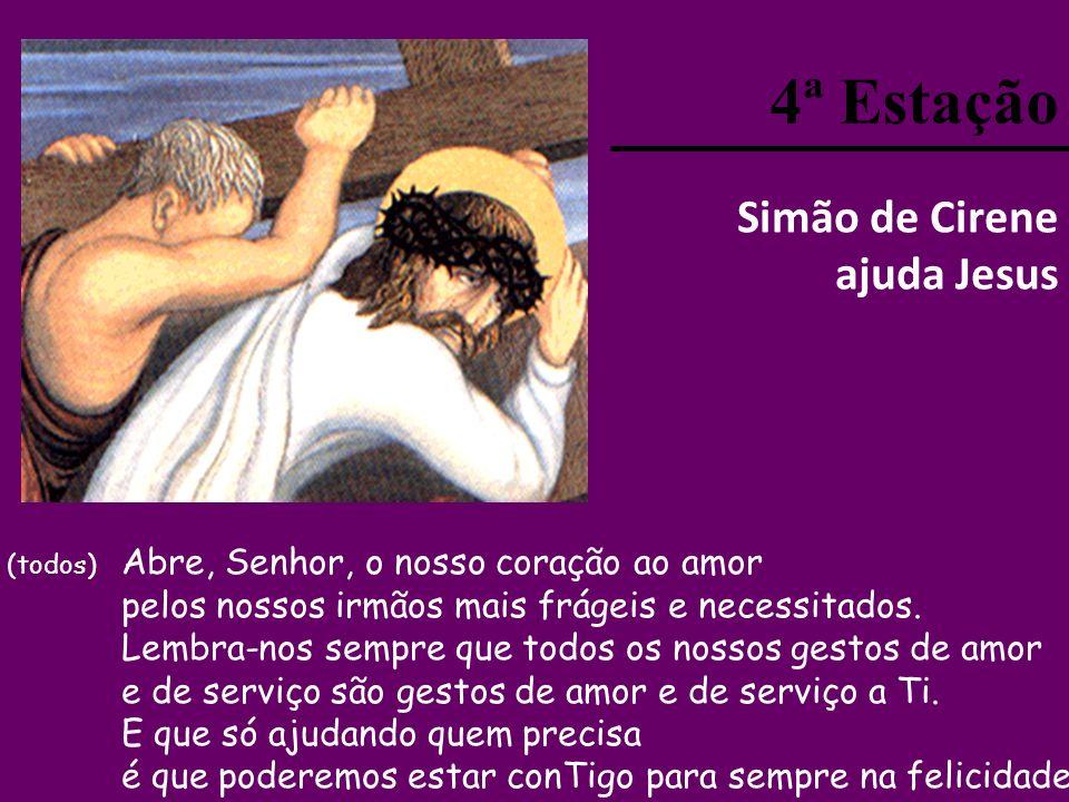 4ª Estação Simão de Cirene ajuda Jesus