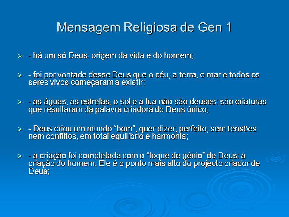 Mensagem Religiosa de Gen 1