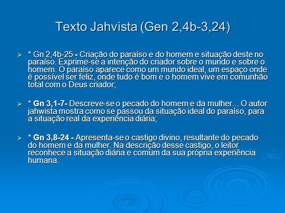 Texto Jahvista (Gen 2,4b-3,24)