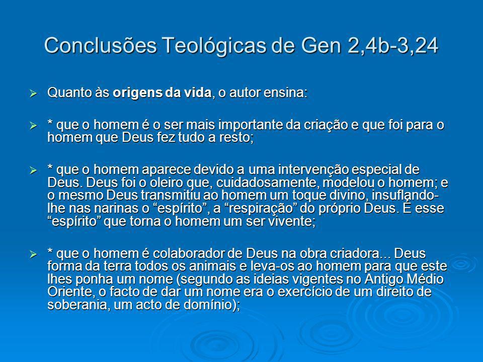 Conclusões Teológicas de Gen 2,4b-3,24