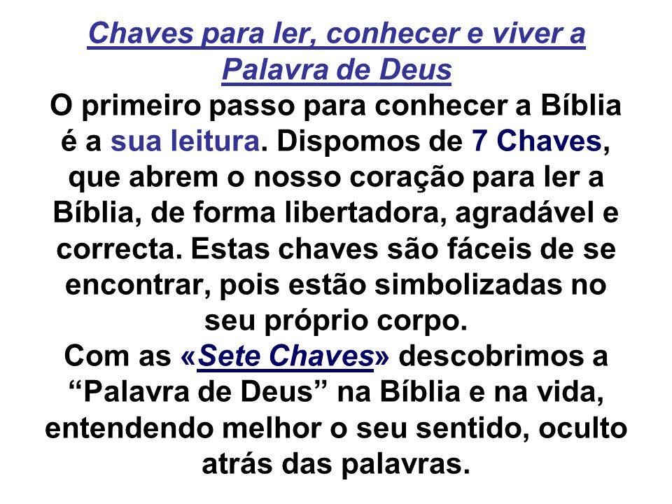 Chaves para ler, conhecer e viver a Palavra de Deus O primeiro passo para conhecer a Bíblia é a sua leitura.