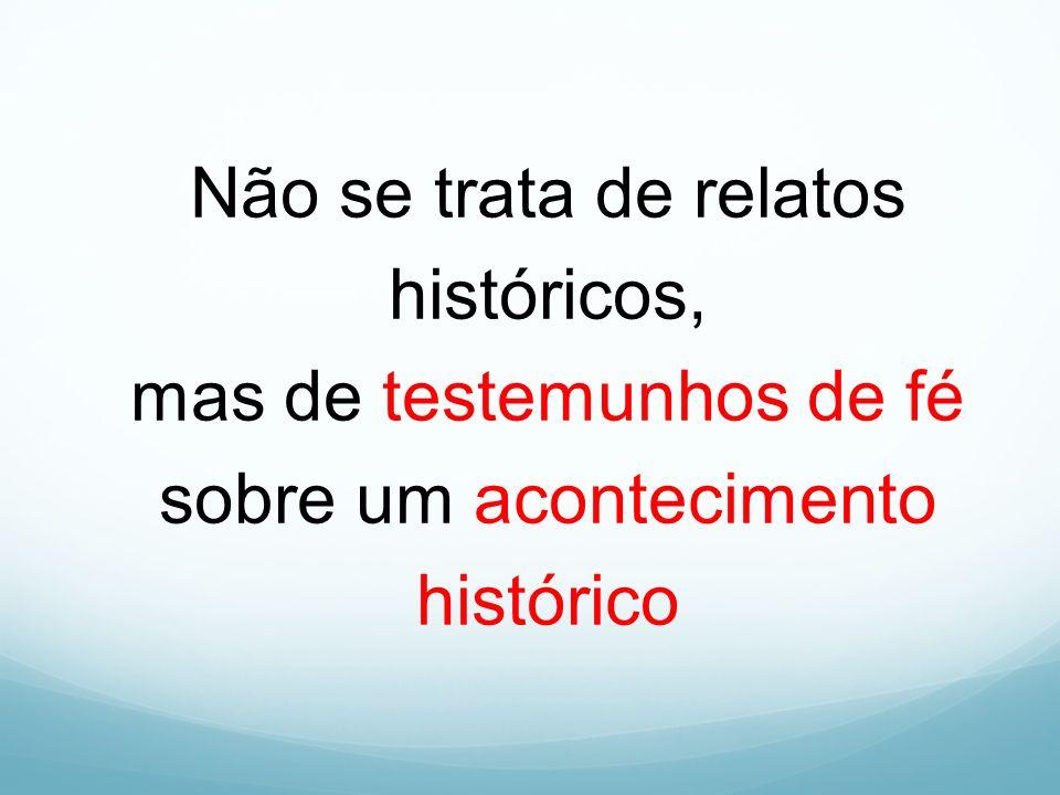 Não se trata de relatos históricos, mas de testemunhos de fé sobre um acontecimento histórico
