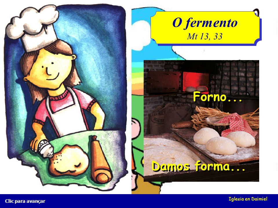 O fermento Forno... Damos forma... Mt 13, 33 Iglesia en Daimiel