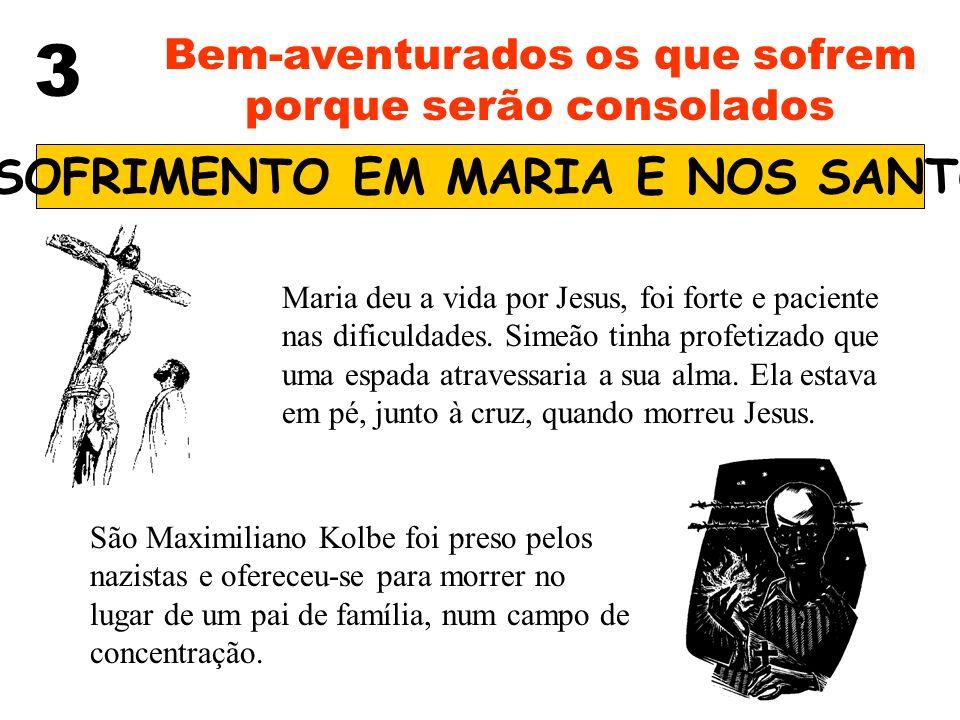 O SOFRIMENTO EM MARIA E NOS SANTOS