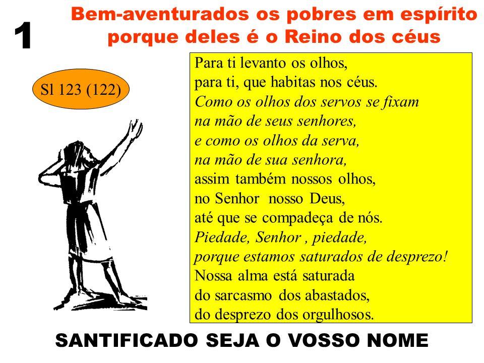 Bem-aventurados os pobres em espírito porque deles é o Reino dos céus