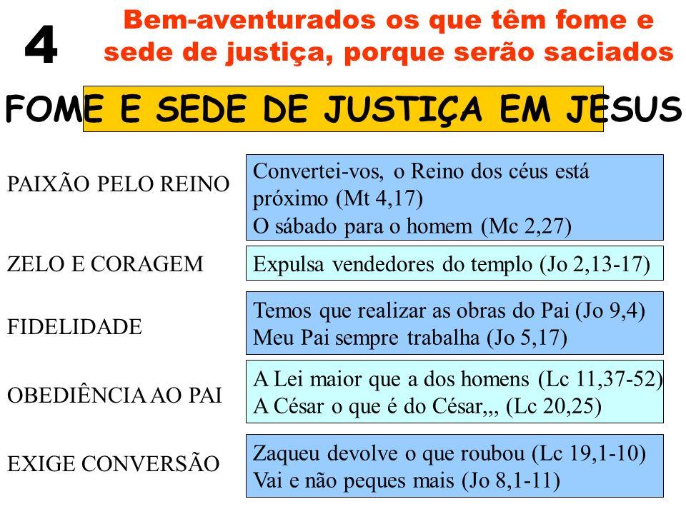 FOME E SEDE DE JUSTIÇA EM JESUS
