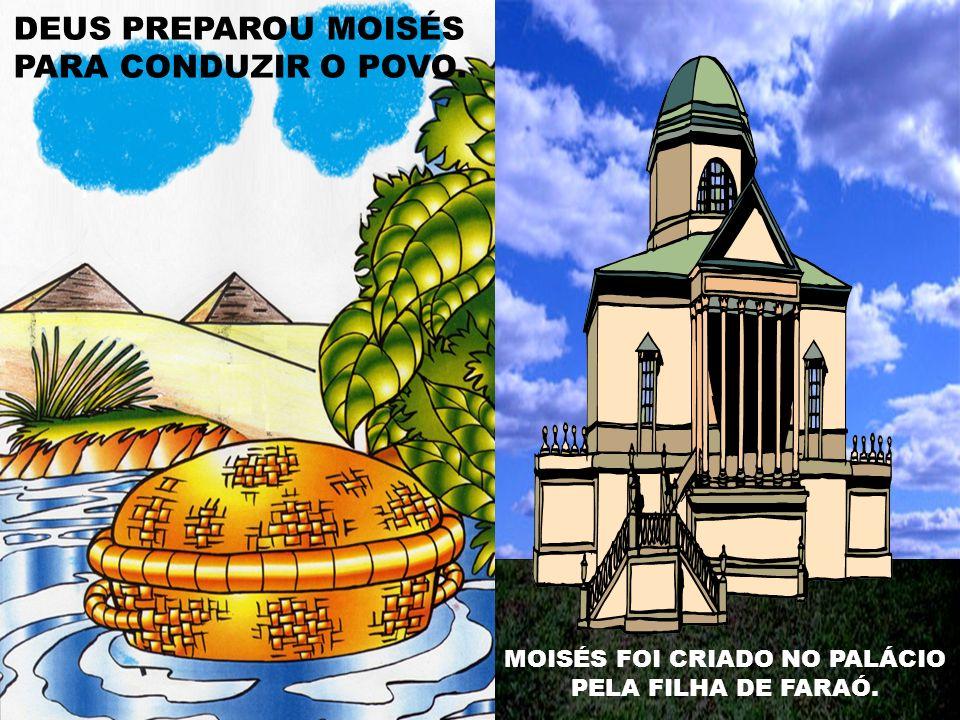 MOISÉS FOI CRIADO NO PALÁCIO PELA FILHA DE FARAÓ.
