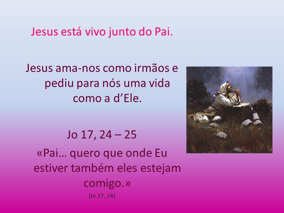 Jesus está vivo junto do Pai.