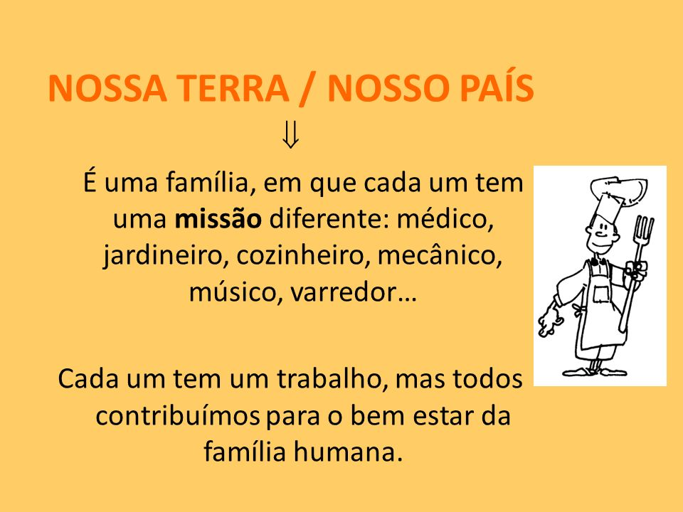 NOSSA TERRA / NOSSO PAÍS