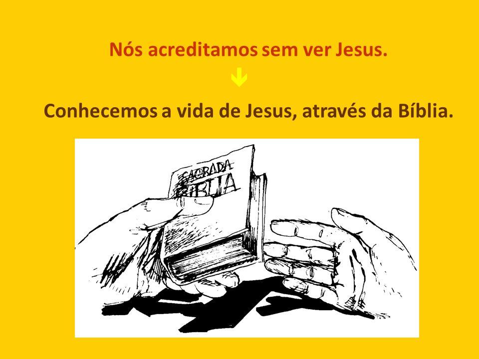 Nós acreditamos sem ver Jesus