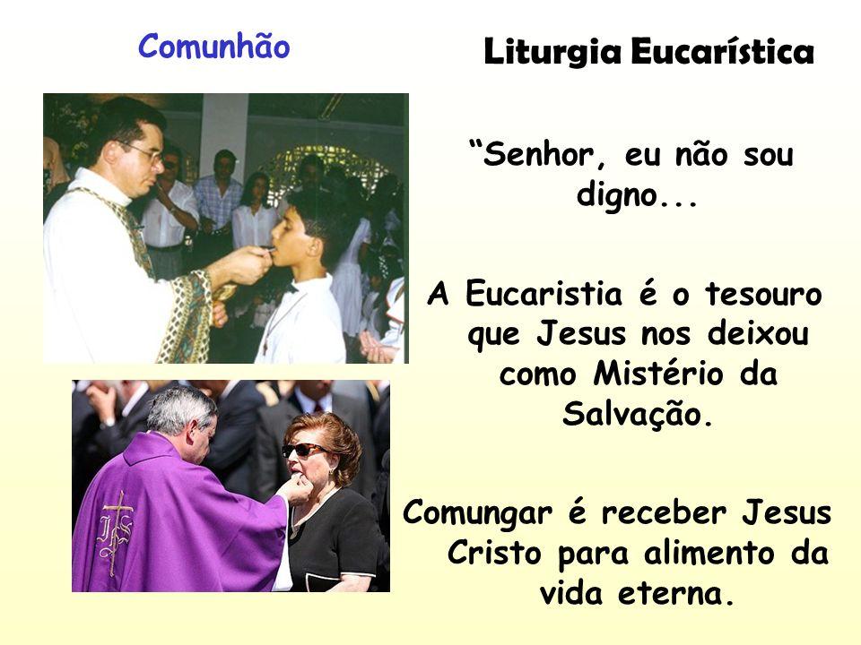 Liturgia Eucarística Comunhão Senhor, eu não sou digno...