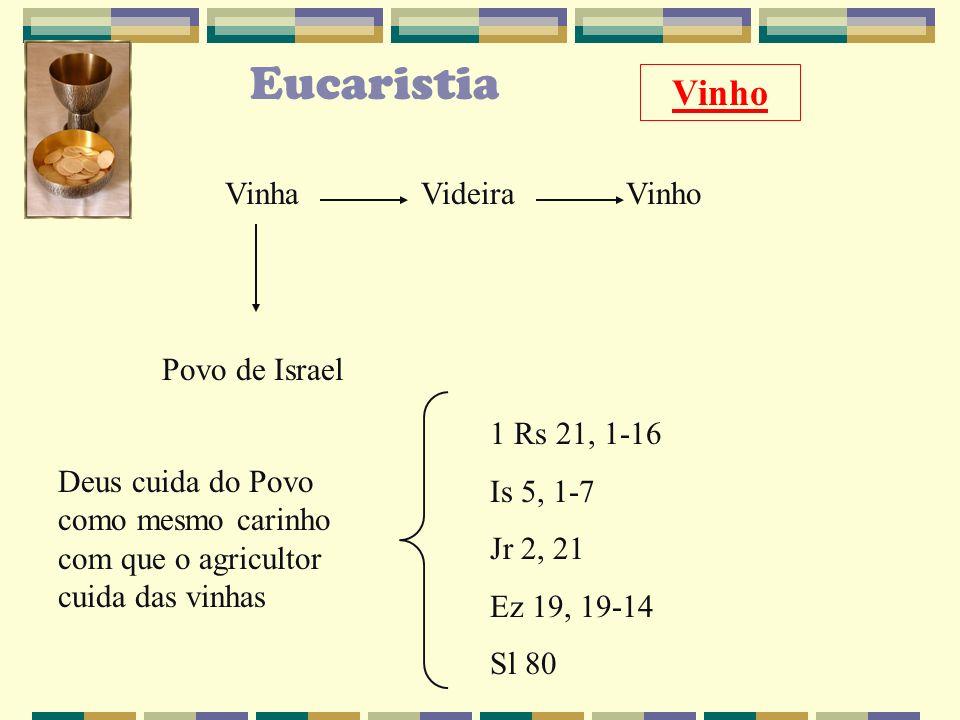 Eucaristia Vinho Vinha Videira Vinho Povo de Israel 1 Rs 21, 1-16