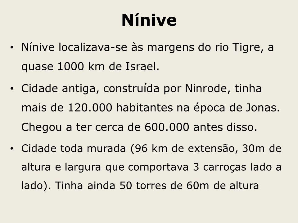 Nínive Nínive localizava-se às margens do rio Tigre, a quase 1000 km de Israel.