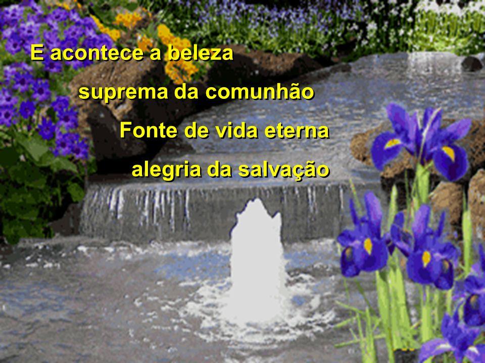 E acontece a beleza suprema da comunhão Fonte de vida eterna alegria da salvação