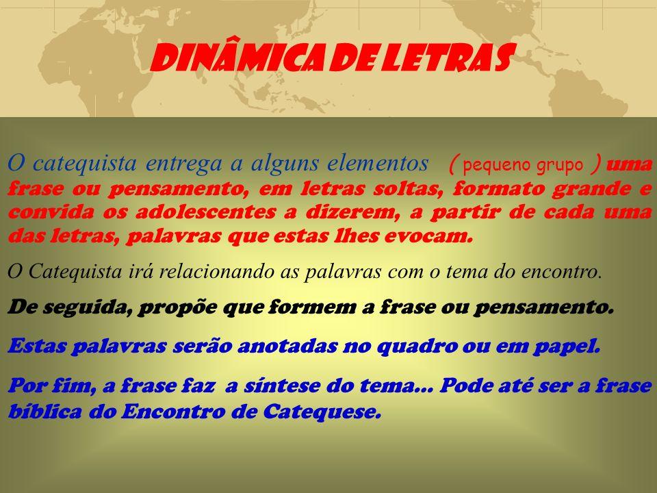 DINÂMICA DE LETRAS