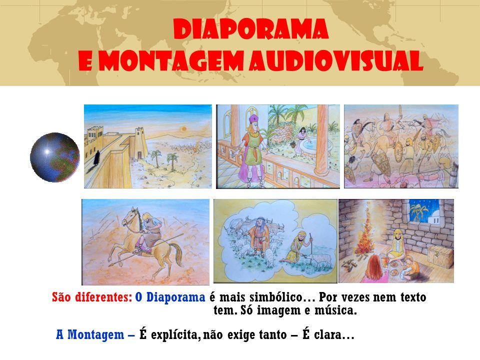 DIAPORAMA E MONTAGEM AUDIOVISUAL