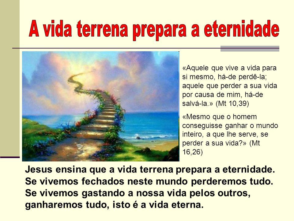 A vida terrena prepara a eternidade