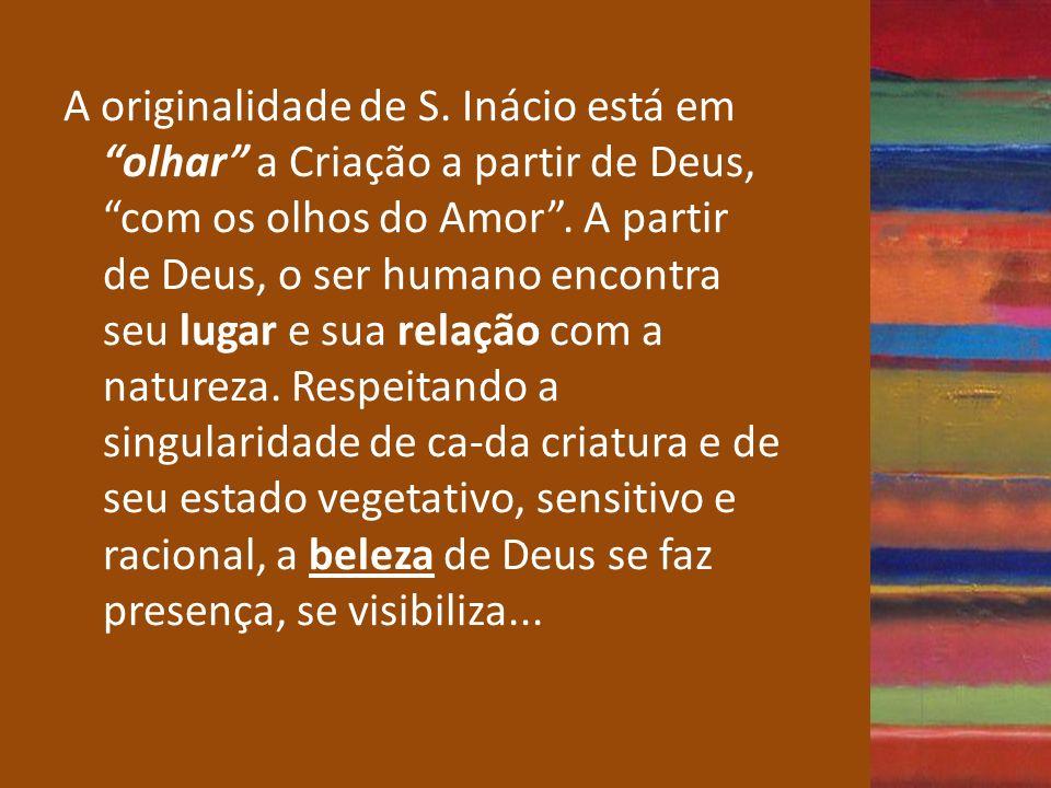 A originalidade de S. Inácio está em olhar a Criação a partir de Deus, com os olhos do Amor .