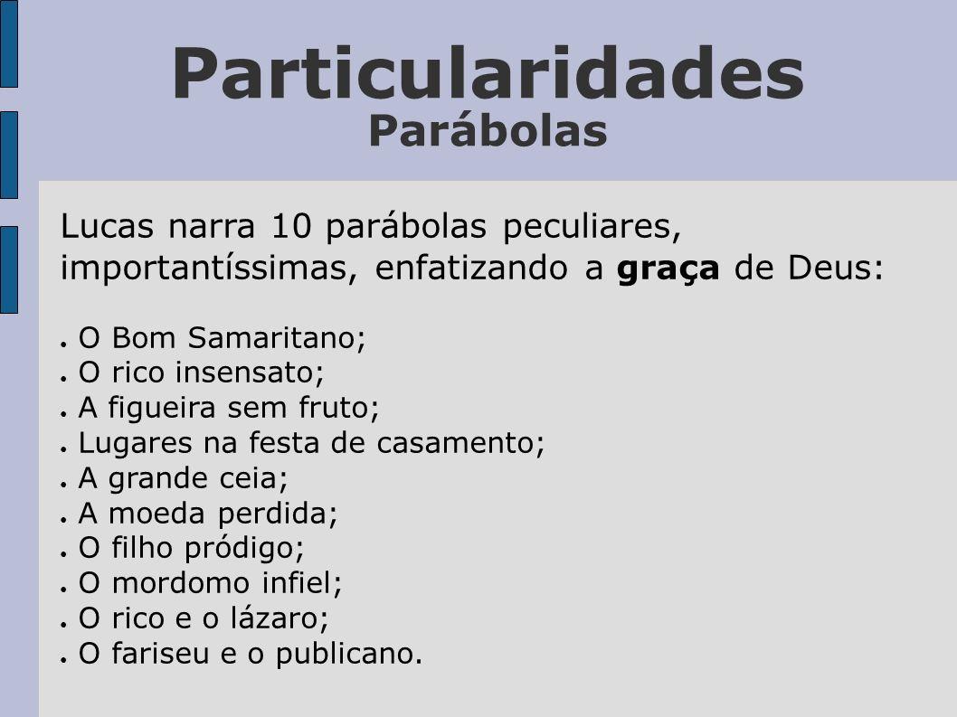Particularidades Parábolas