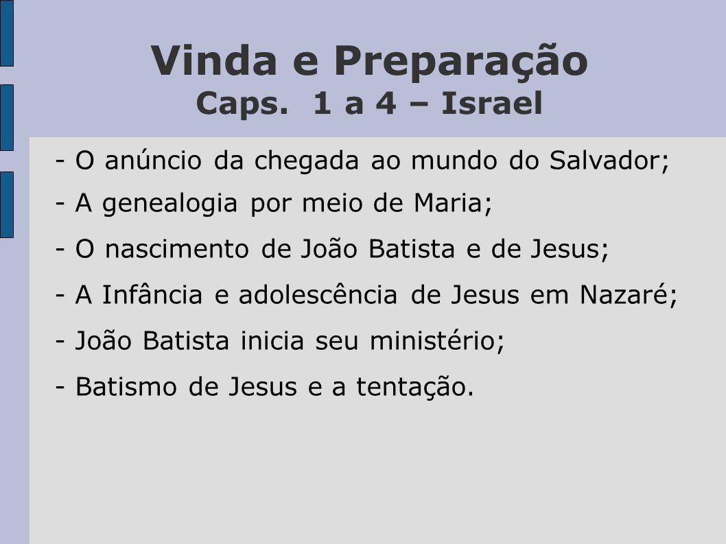 Vinda e Preparação Caps. 1 a 4 – Israel