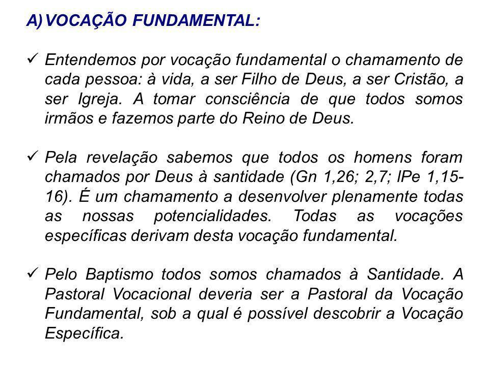 VOCAÇÃO FUNDAMENTAL: