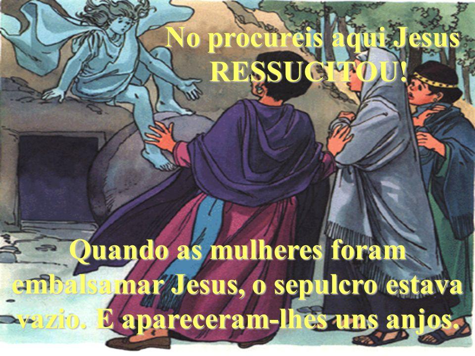 No procureis aqui Jesus RESSUCITOU!