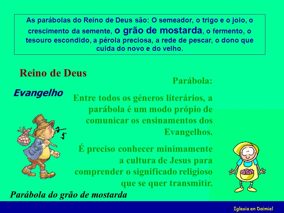 Reino de Deus Parábola: