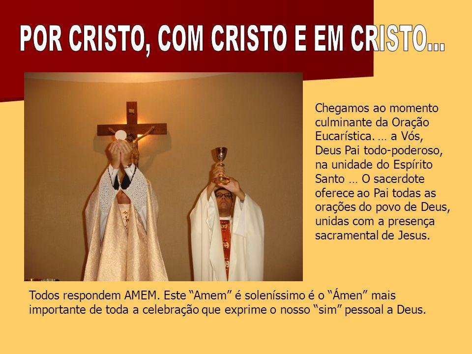 POR CRISTO, COM CRISTO E EM CRISTO...