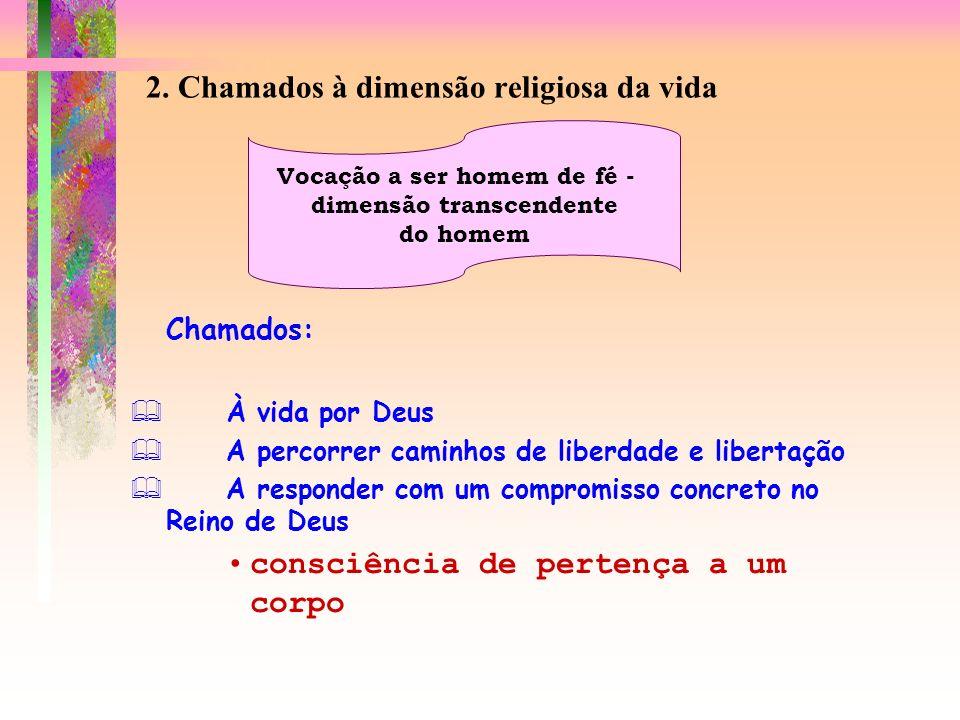 2. Chamados à dimensão religiosa da vida