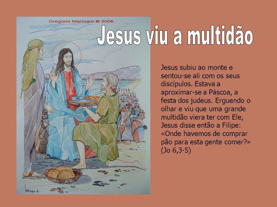 Jesus viu a multidão