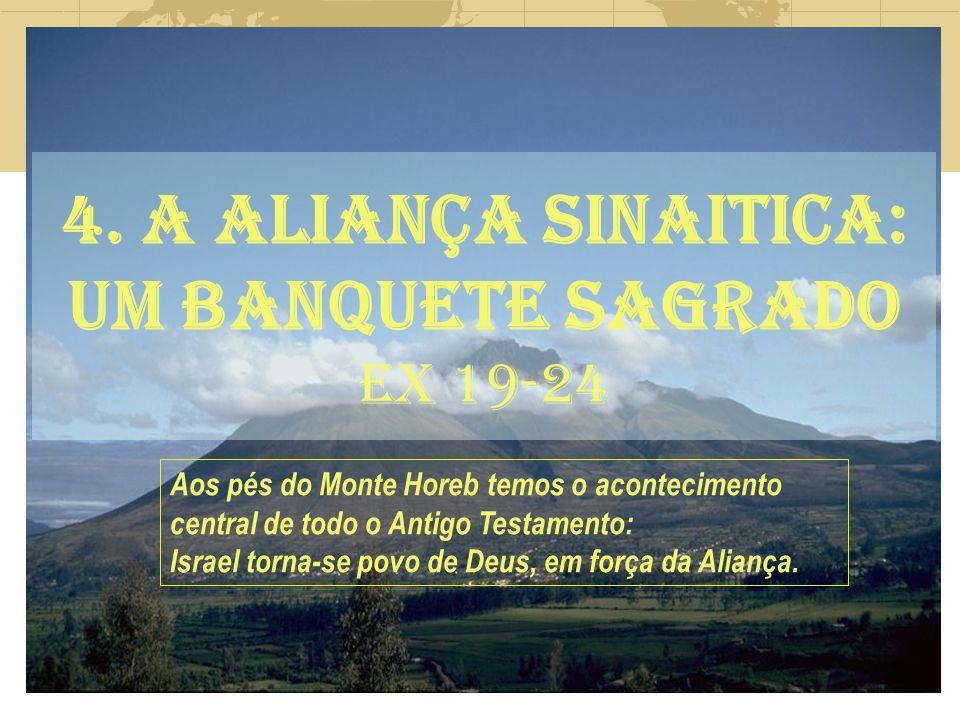4. A ALIANÇA SINAITICA: UM BANQUETE SAGRADO EX 19-24
