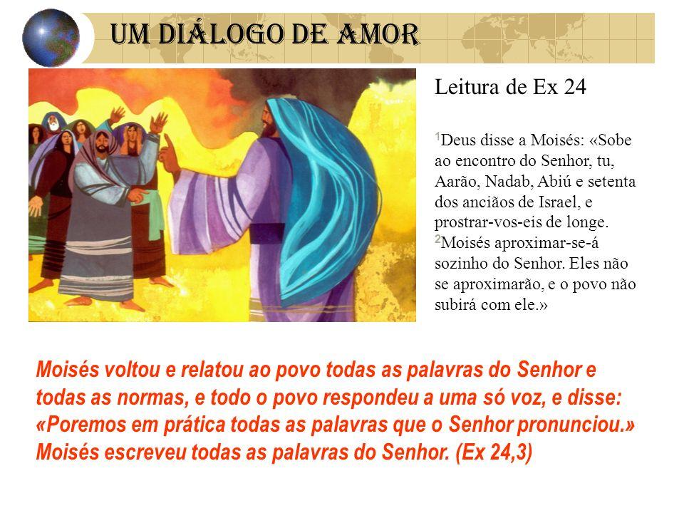 UM DIÁLOGO DE AMOR Leitura de Ex 24