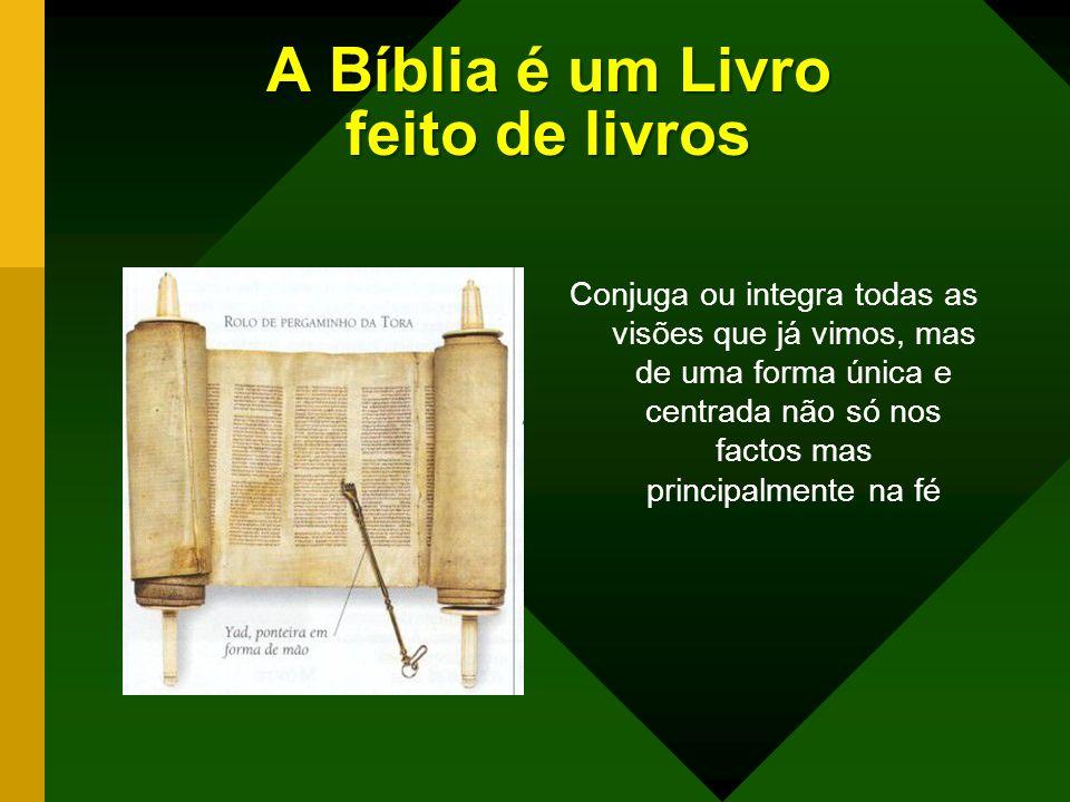 A Bíblia é um Livro feito de livros